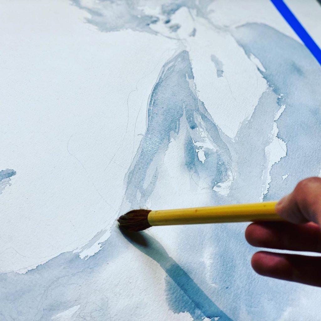 Neil Gaiman's Sandman Inspired Watercolor Process